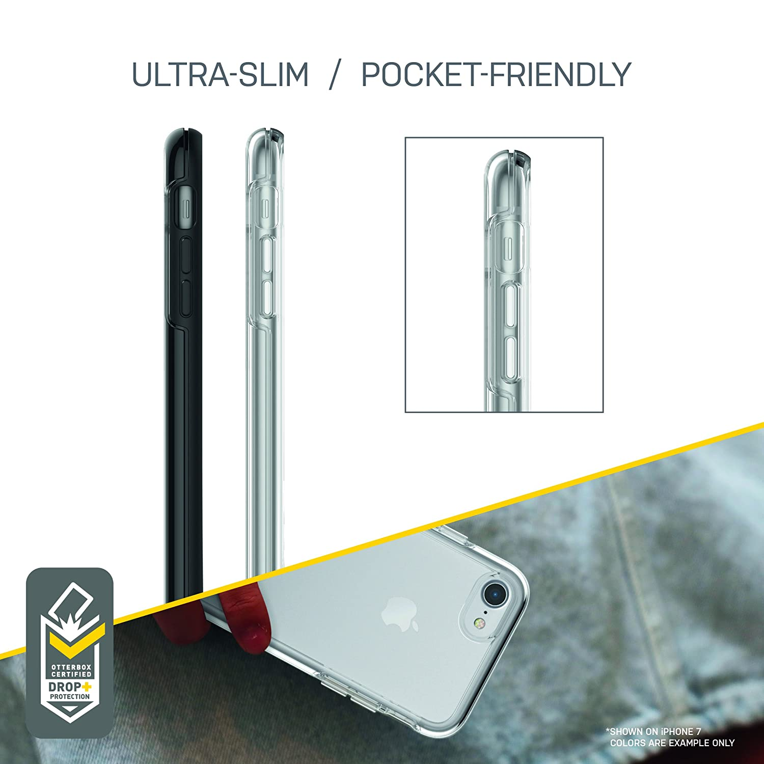 SILVER FLAKE//CLEAR STARDUST NOT Plus OtterBox SYMMETRY CLEAR SERIES Case for iPhone 8 /& iPhone 7 - Retail Packaging