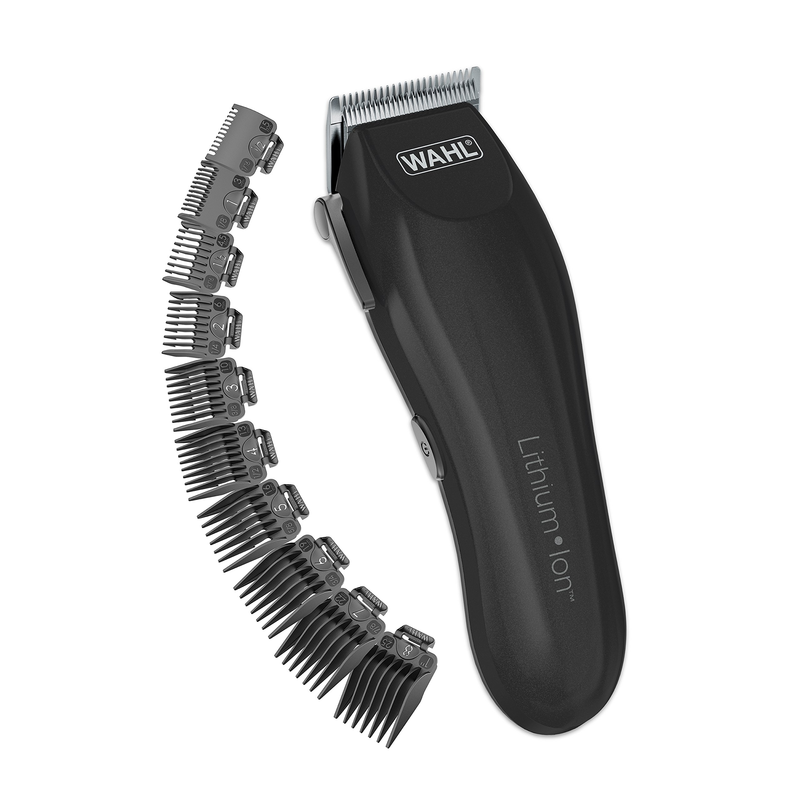 Wahl Clipper Lithium-Ion Cordless Haircutting Kit - Rechargeable Grooming and Trimming Kit with 12 Guide Combs - By The Brand Used By Professionals - Model 79608