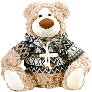 Bo-Toys Cute Plush Teddy Bear in a Jacket Stuffed Animal 10 inches