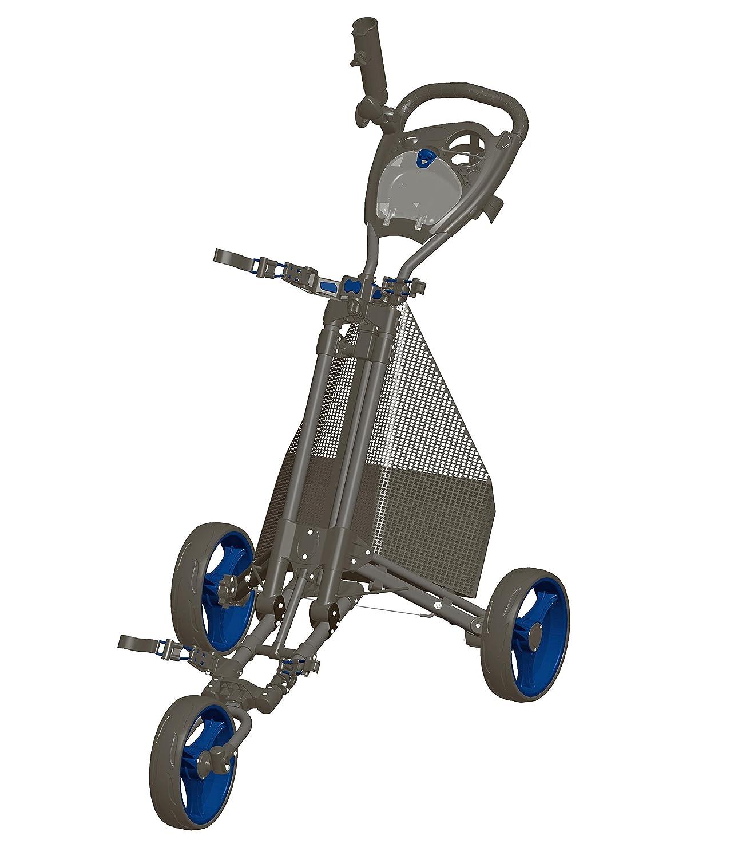 ゴルフプッシュカート – Easy Fold – Charcoal/ブルー – gcpro2-cb   B01GGAP6HE