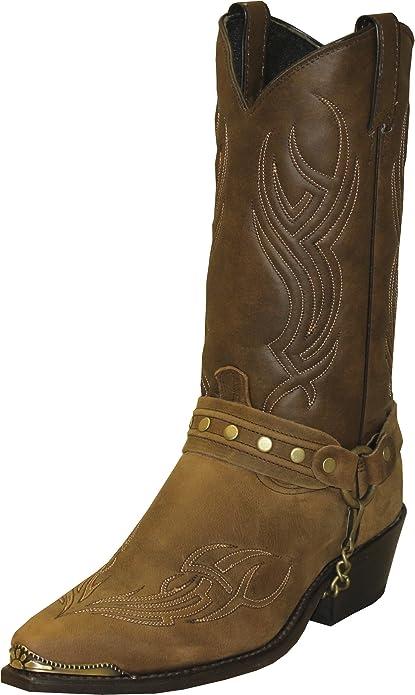 Abilene Mens Cowhide Shooter Boot Square Toe Brown 9 D