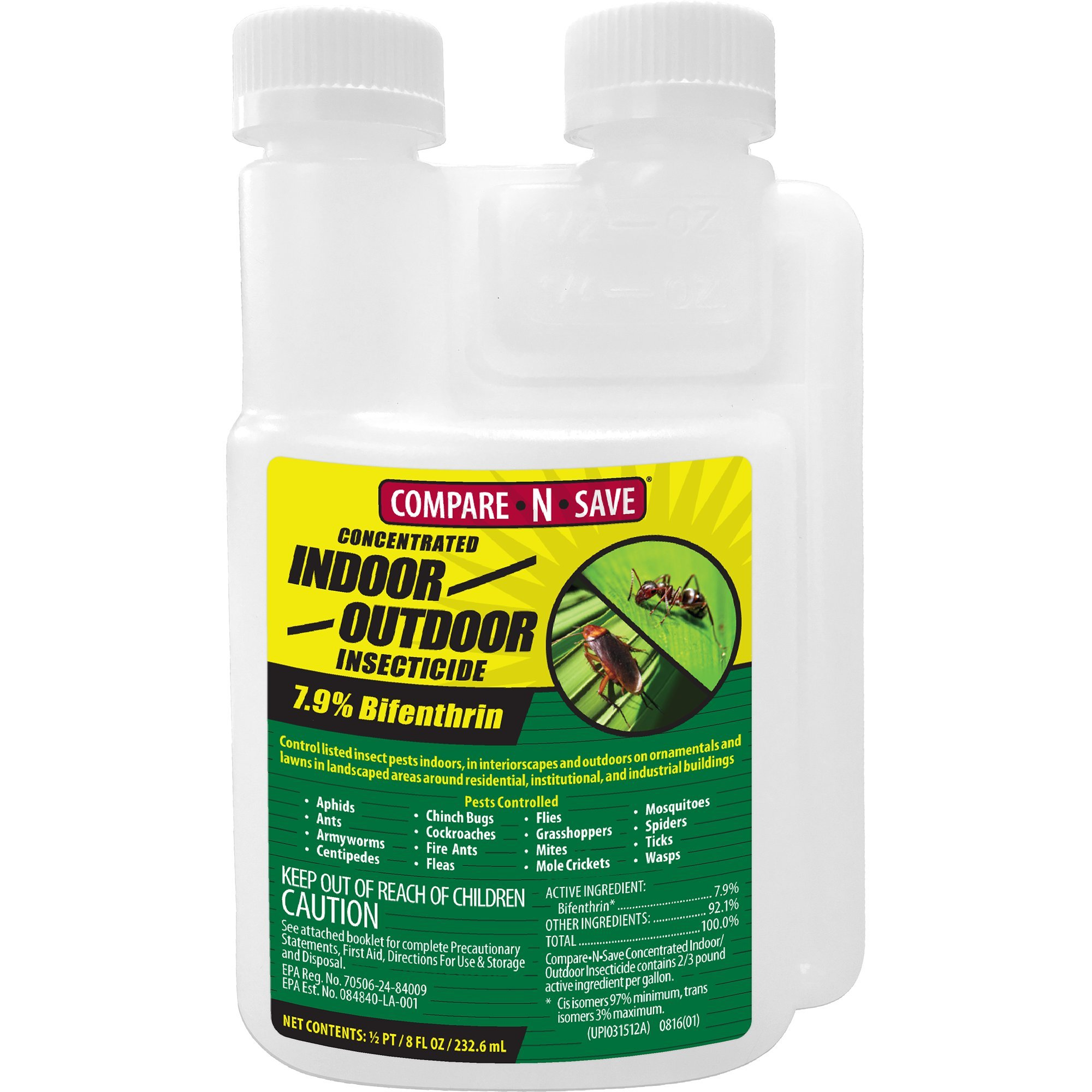 7.9% Bifenthrin Concentrate for Insect Control, 8-ounce by Compare-N-Save