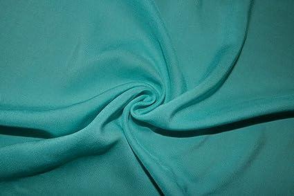 Green Aqua 100/% Rayon Challis Sewing Shirt Apparel Fabric BTY