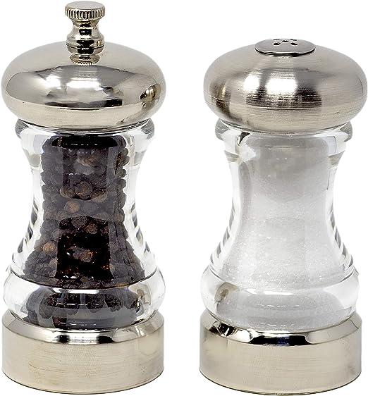 Olde Thompson 4-1//2-Inch Monterey Pepeprmill Net Wt 0.5 Oz and Salt Shaker