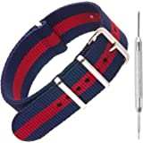 Nylon NATO Watch Strap by Sniper Bay® Straps   Military Style Divers Bands   18mm 20mm 22mm 24mm