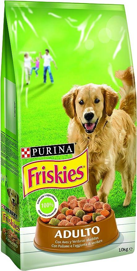 Oferta amazon: Purina Friskies Pienso para Perro Adulto Aves y Verduras 10 Kg