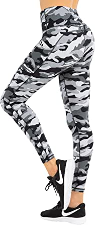 HOFI Printed Yoga Pants for Women with Pockets High Waist Workout Leggings with Tummy Control 4 Way Stretch Running