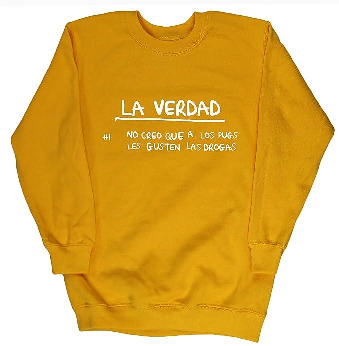 No Creo Que A Los Pugs Les Gusten Las Drogas jersey sudadera suéter derportiva unisex niños niñas: Amazon.es: Ropa y accesorios