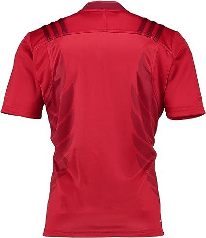 adidas FFR A JSY - Camiseta para Hombre, Color Rojo/Dorado: Amazon.es: Zapatos y complementos