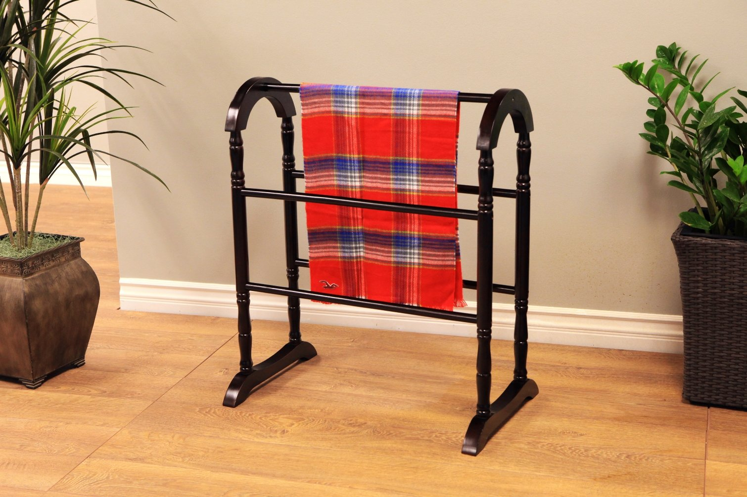 Frenchi Home Furnishing Quilt Rack, Espresso by Frenchi Home Furnishing (Image #4)