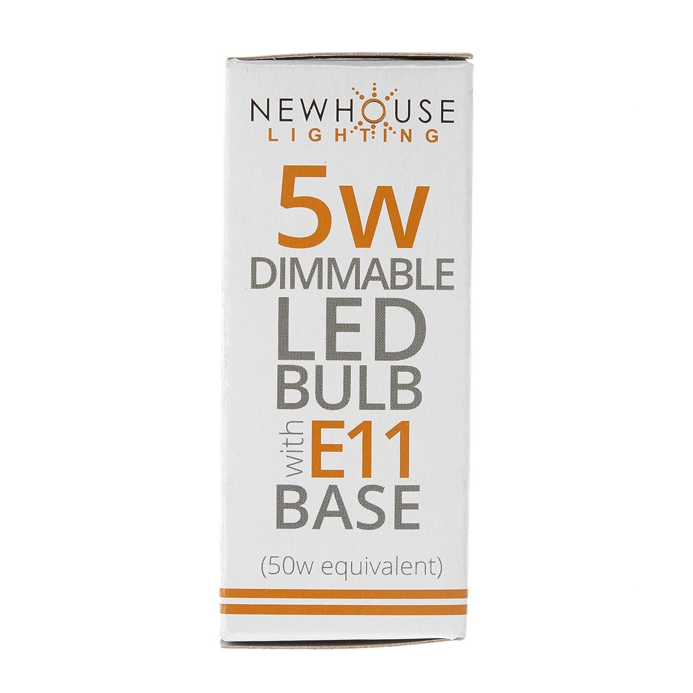 Dimmable 60W Equivalent 3000K 450 Lumens Cabinet Lighting Chandelier 4-Pack E11 Mini-Candelabra Base LED Bulbs 5-Watt Halogen Replacement Lights for Ceiling Fan 120V