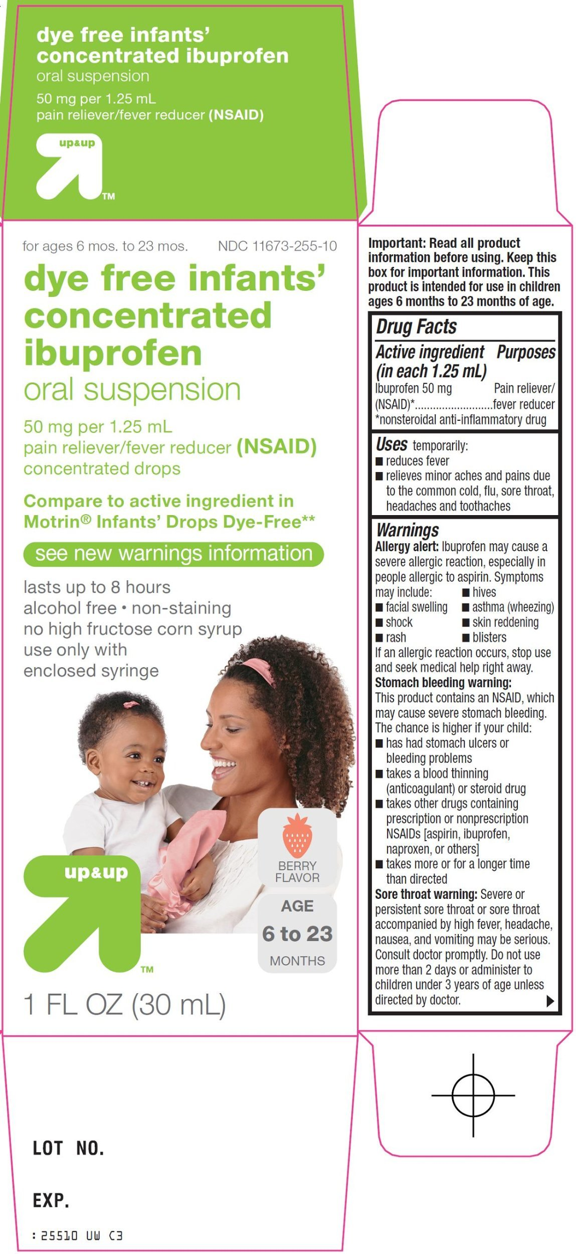 Up and Up Dye-Free Infants' Concentrated Ibuprofen 1oz Compare to Motrin Infants' Drops Dye Free 2-PACK
