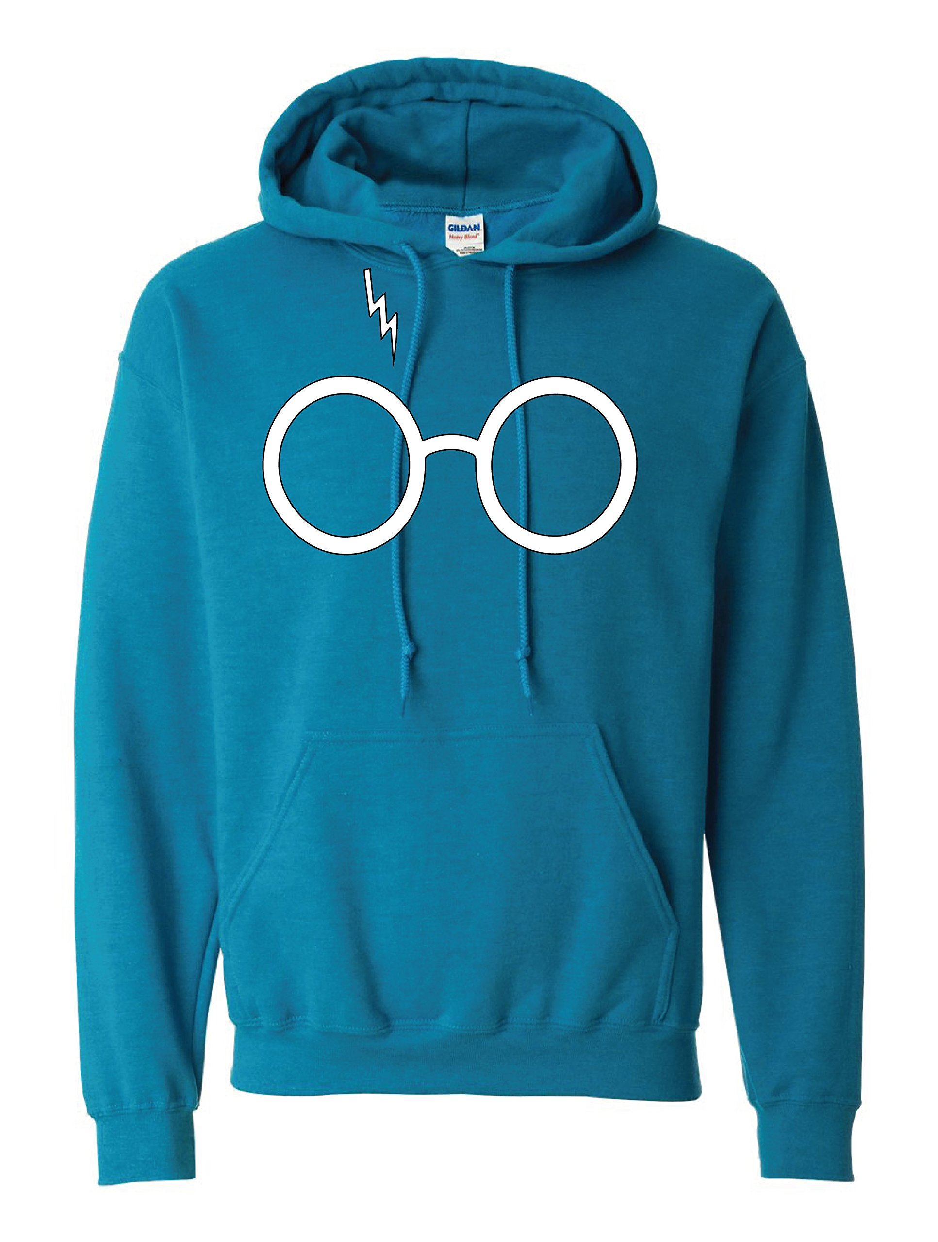 Harry Potter Glasses Unisex Adult Hoodie XL Sapphire