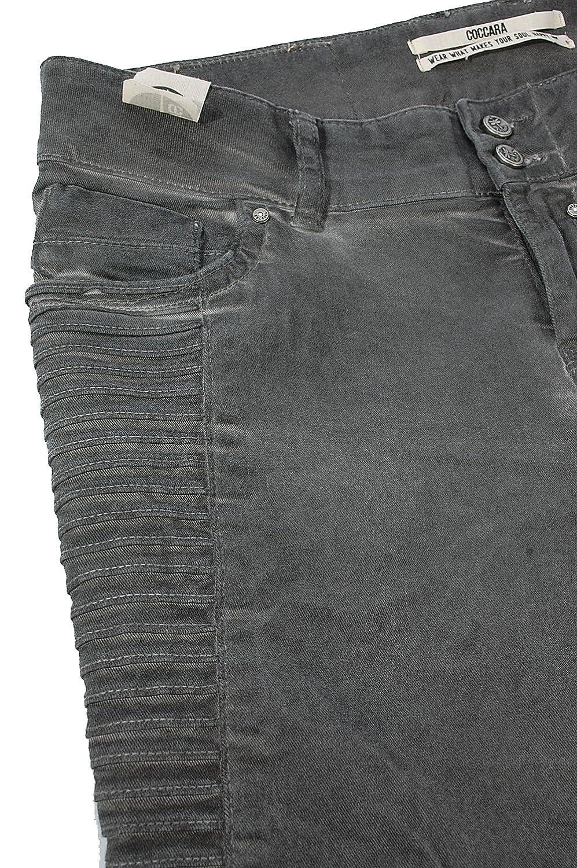 COCCARA Damen Jeans Hose BELLA EASY RIDER CN932 anthra grau Slim Fit   Amazon.de  Bekleidung 4fe51620e5