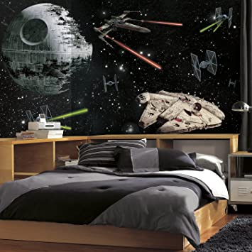 2 sizes available Photo wallpaper wall mural for boys bedroom Star Wars