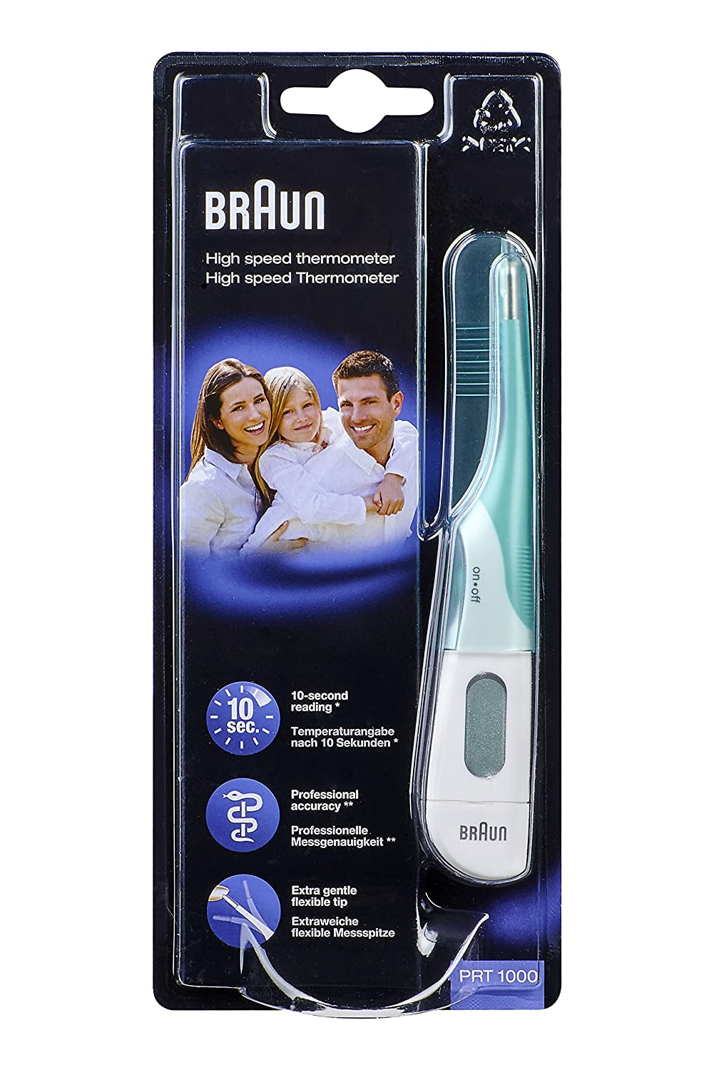 Braun PRT1000 High Speed 3-in-1 Thermometer 66024800 Thermometers digital thermometers