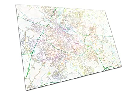 Eaposter Derby England Street Map Artwork Print City Town