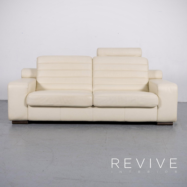 Schön Breites Sofa Sammlung Von Conceptreview: Er Designer Leder Creme Dreisitzer Echtleder