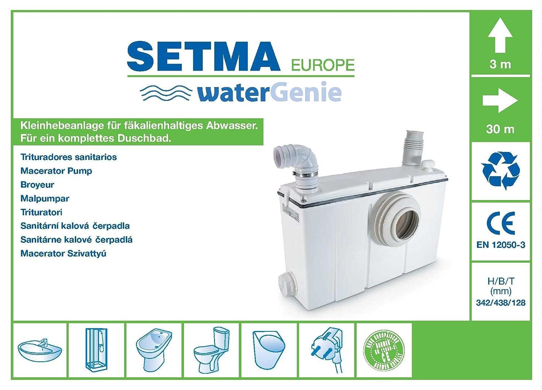 Setma Hebeanlage Watergenie C Fur Wc 3 Weitere Einlaufe Fur Dusche