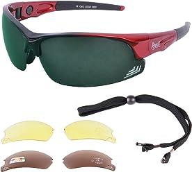 a0a4e3dea3 Rapid Eyewear Edge Red Golf Sunglasses Mens   Womens with Interchangeable  Lenses