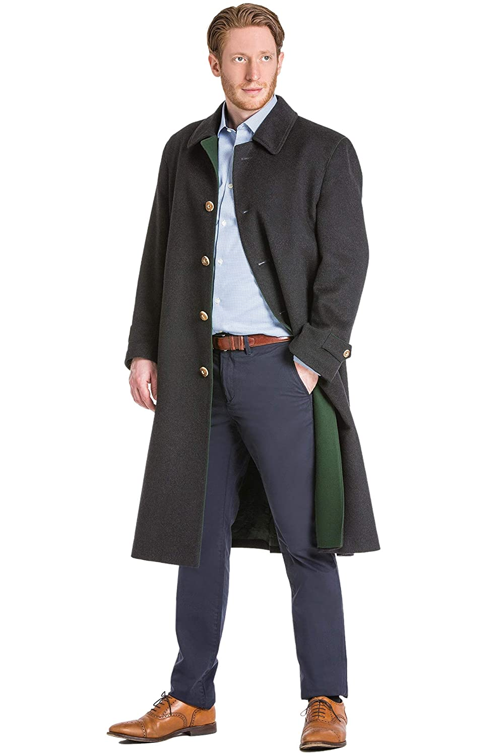 a88aae710 Shiver No More Classic Austrian Loden Wool Overcoat at Amazon Men's ...