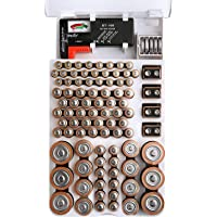 FireBall Battery Organizer with Removable Battery Tester, 93 Battery Storage Case. Holds AA, AAA, 9-Volt, C-Type, D-Type…