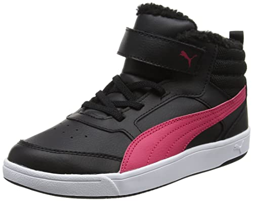 Puma Unisex Kids' Rebound Street V2 Fur V Ps Low-Top Sneakers, Black