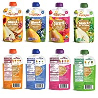 Happy Tot Organic Superfoods Fiber & Protein Stage 4 Baby Food Assortment Variety...