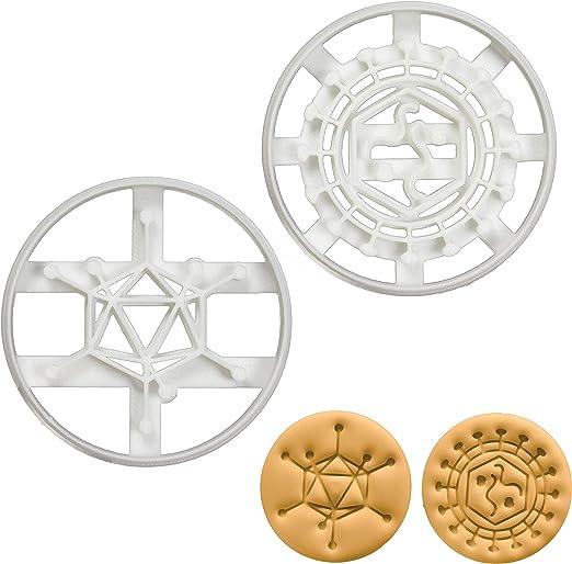 Juego de 2 cortadores de galletas Virus (diseños: Adenovirus y Retrovirus), 2 piezas – Bakerlogy: Amazon.es: Hogar