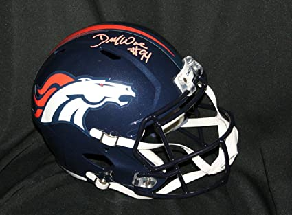 000616ed346 Image Unavailable. Image not available for. Color  Signed DeMarcus Ware  Helmet ...