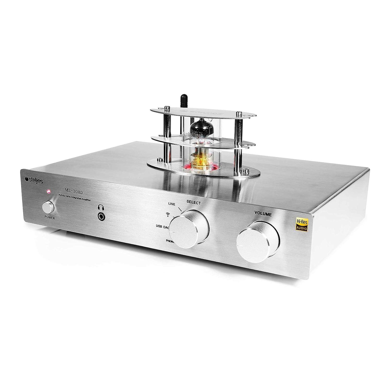 Steljes Ampli à Tubes Valve Amplificateur de Son 30W*2 Bluetooth HiFi Stéréo dac Audio Britannique Design ML-30HD