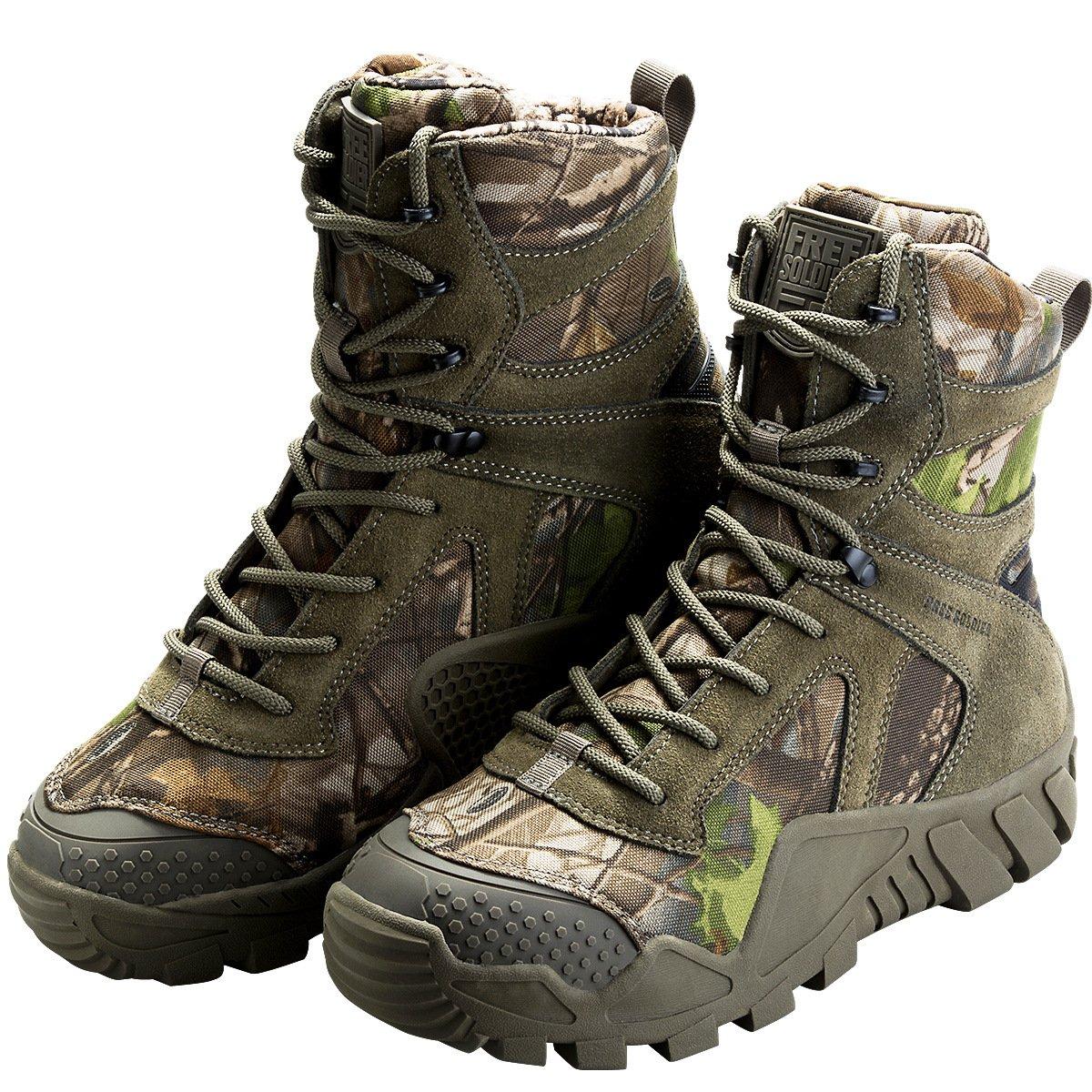 FREE SOLDIER Herren Military Military Military Top Turnschuhe Schuhe Tactical Wandern Stiefel Schnürschuh Arbeit Combat All Terrain Verschleißfest Stiefel 3 Farben 3c5e50