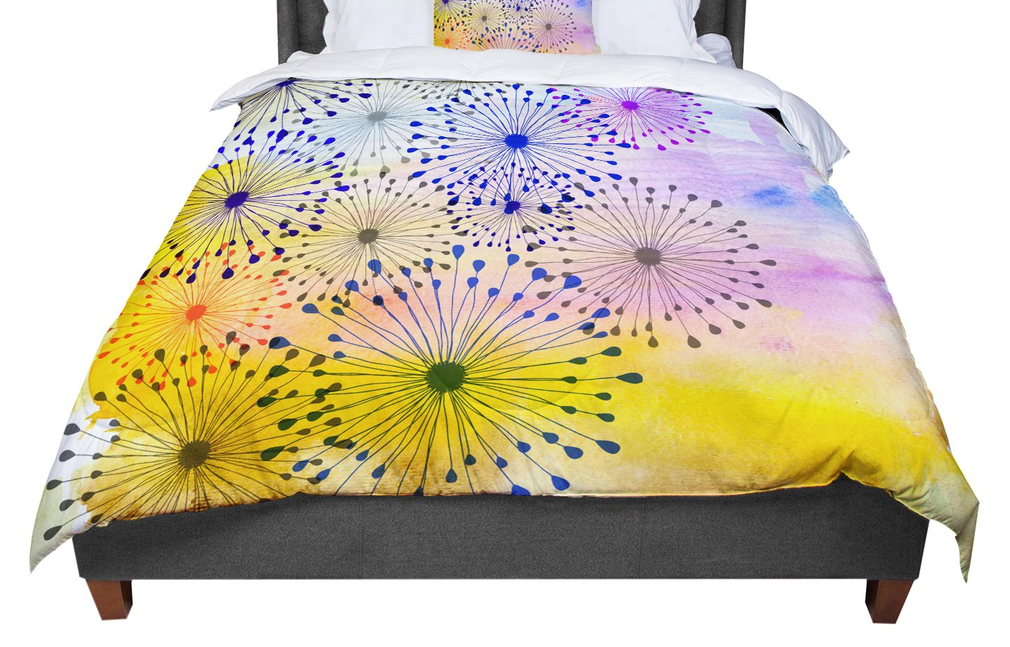 KESS InHouse Marianna Tankelevich Fuzzy Feeling Queen Comforter 88 X 88