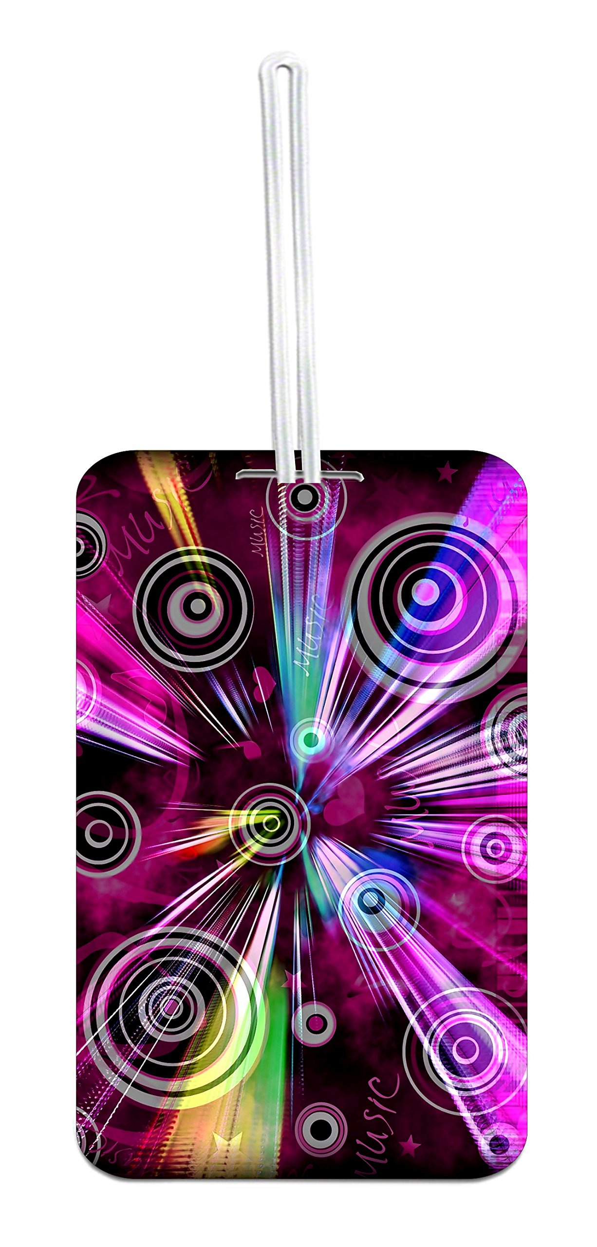 Music Design Hard Plastic Luggage Tag with Personalized Back