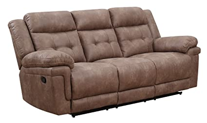 Amazon Com Steve Silver Anastasia Fabric Reclining Sofa In Cocoa