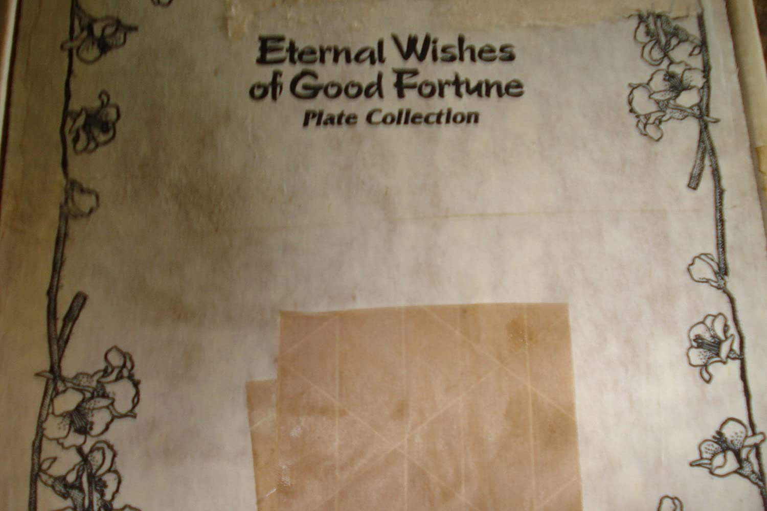 6 INCHES The Hamilton Collection Eternal Wishes of Good Fortune Friendship Collectors Plate