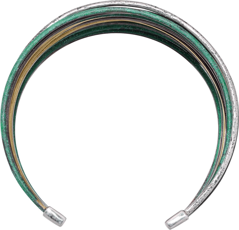 "7.5/"" Silpada /'Fresco/' Sterling Silver and Patina Brass Cuff Bracelet"