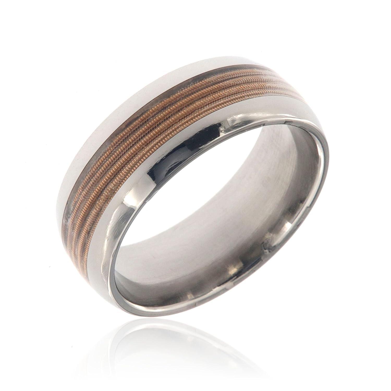 Custom Mens Wedding Bands.Guitar String Rings Mens Wedding Bands Custom Music Jewelry Titanium