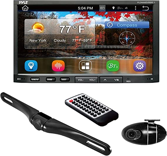 NO Navigation Disc Included CD//DVD Player Dash Cam Recorder Backup Camera Monitor PLDNVR Premium Pyle 7-Inch Double-DIN Car Stereo Receiver bluetooth TFT//LCD Monitor Disc//MP3//MP4//USB //SD//AM//FM