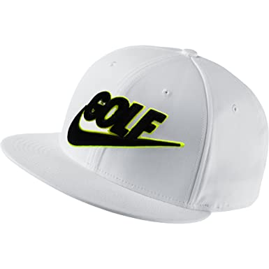 39d4255f0e9 Image Unavailable. Image not available for. Color  NIKE 2015 Golf True  Badge Flat Bill Cap Color  White Volt Size  Adj