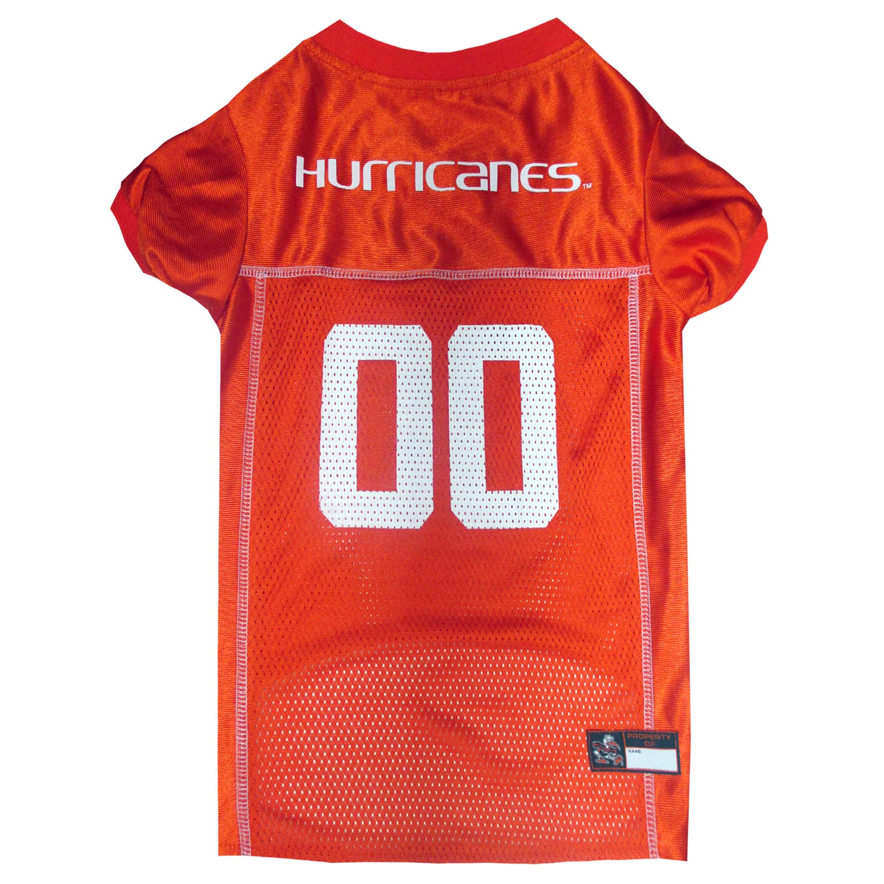 Pets First NCAA Miami Hurricanes University Dog Jersey, XX-Large