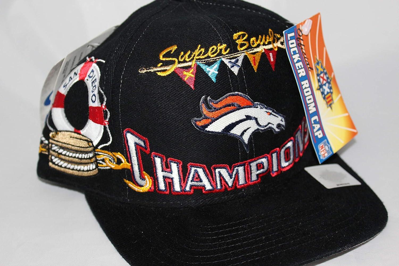 0ef1cd67 Super Bowl XXXII Champs Denver Broncos Rare Vintage Snapback Hat ...