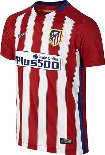 NIKE 1ª Equipación Atlético de Madrid 2015/2016 - Camiseta Oficial niño, Color Rojo/Blanco/Azul, Talla XS: Amazon.es: Ropa y accesorios