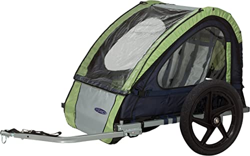 Instep Bike Trailer for Toddlers, Kids, Single and Double Seat, 2-In-1 Canopy Carrier