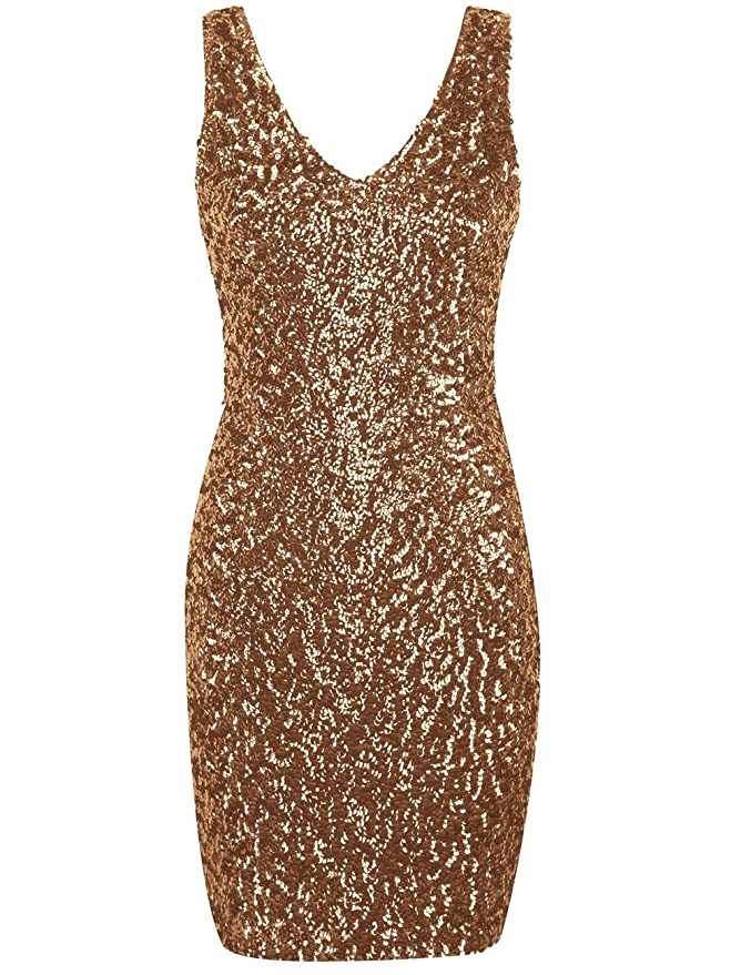 Review kayamiya Women's 1920s V Neck Full Sequined Bodycon Mini Cocktail Party Dress