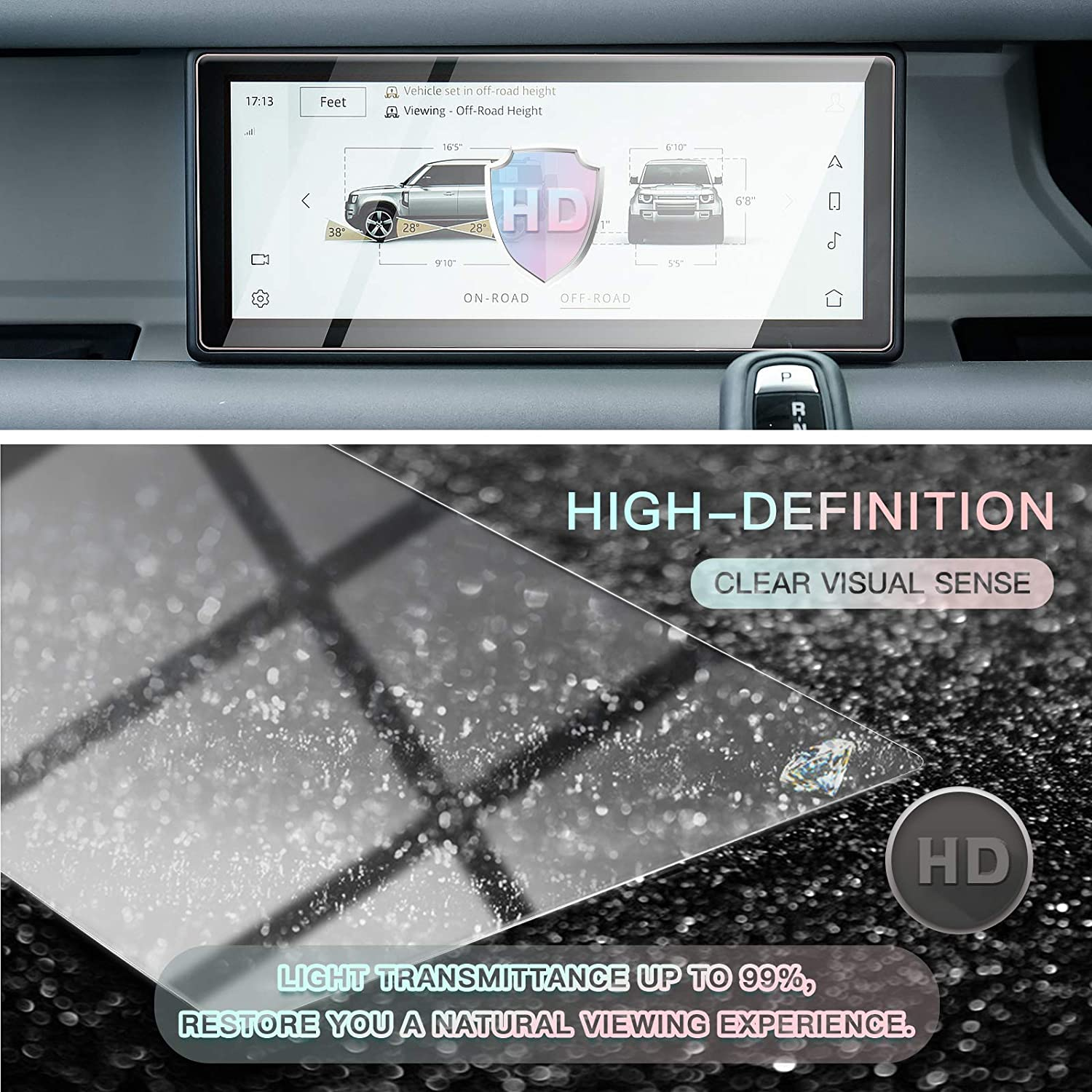 Screen Protector Foils for 2020 Land Rover Defender 90 110 10In Navigation Display Tempered Glass 9H Hardness Anti Scratch /& Glare HD Clear LCD GPS Touch Screen Protective Film