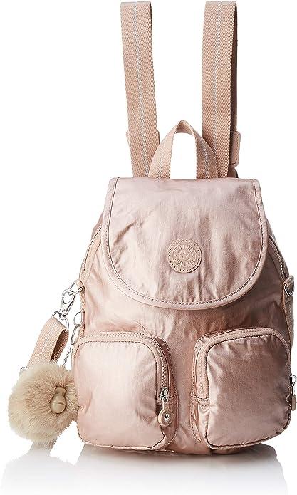 Kipling Firefly Up, Mochilas para Mujer, Dorado (Metallic Blush), 22x31x14 cm: Amazon.es: Zapatos y complementos