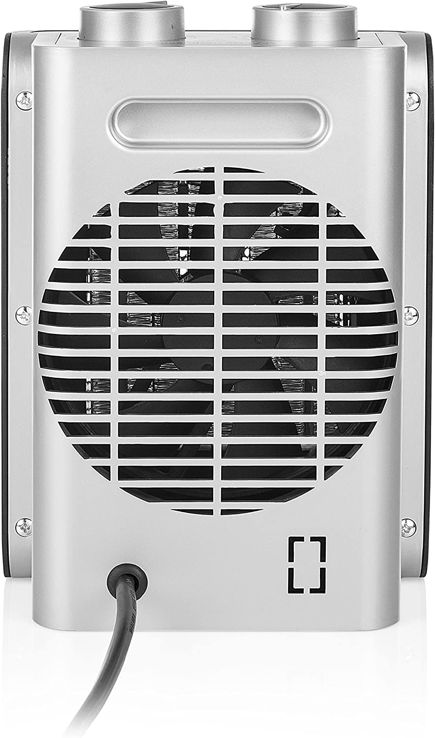 3 Speeds to Heat and Cool 1500W Tristar KA-5064UK Electric Fan Heater Silver and Black Metal 1500 W