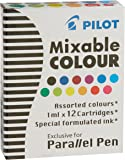 3 BOXES: Pilot Parallel Pen Ink Refills for Calligraphy Pens, Assorted Colors, 12 Cartridges per Pack (77312)