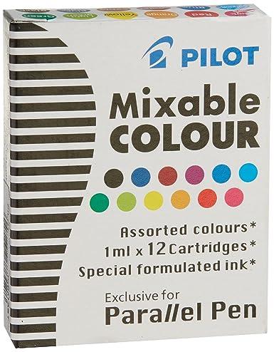 3 Boxen: Pilot Parallel Pen Patronen für Kalligraphie-Stifte, verschiedene Farben, 12 Patronen Pro Pack (77312)
